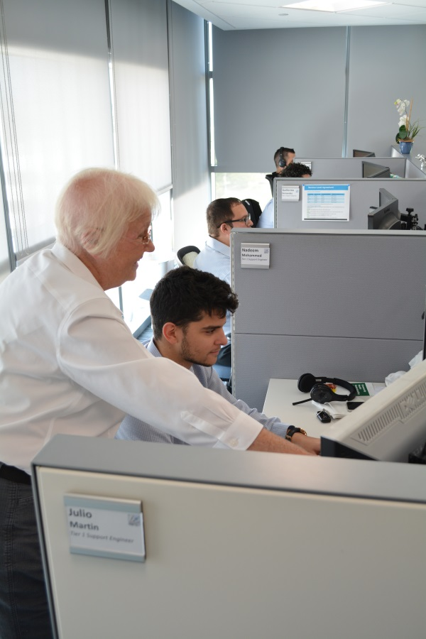 Some of our support team members in action